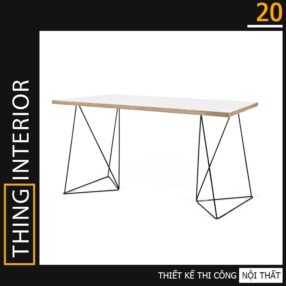 bàn làm việc chân tam giác