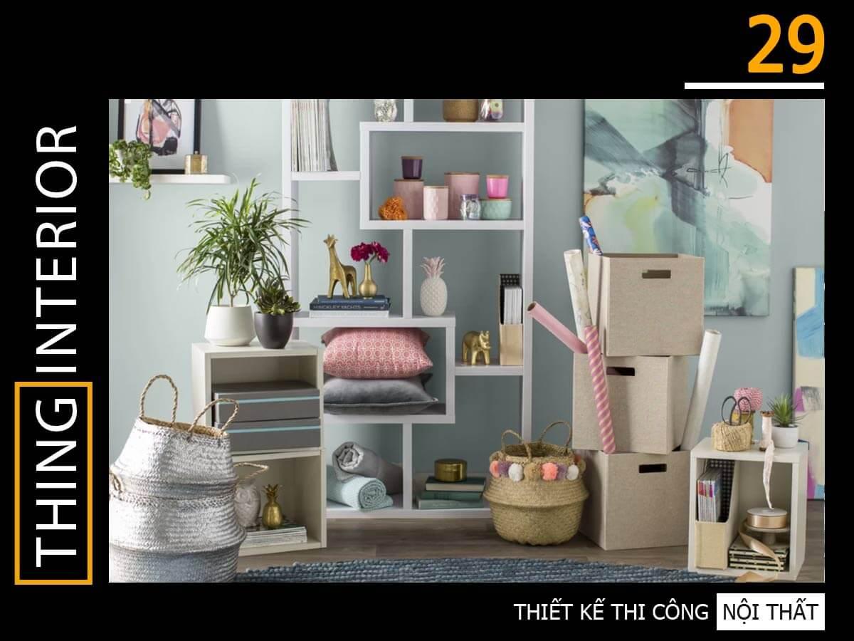 tủ sách nội thất thing interior