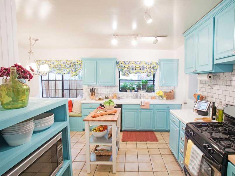 kệ bếp màu xanh ngọc