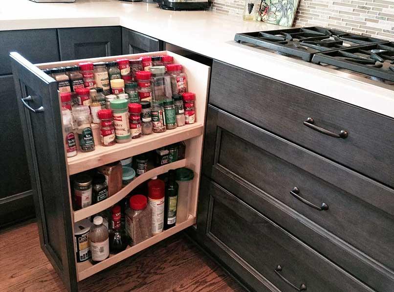ngăn để gia vị cho tủ bếp