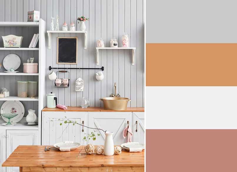bếp hồng và trắng