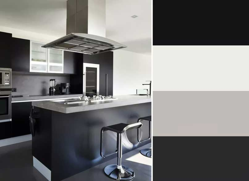 nhà bếp màu đen