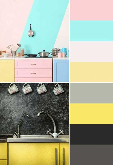 phối màu nhà bếp