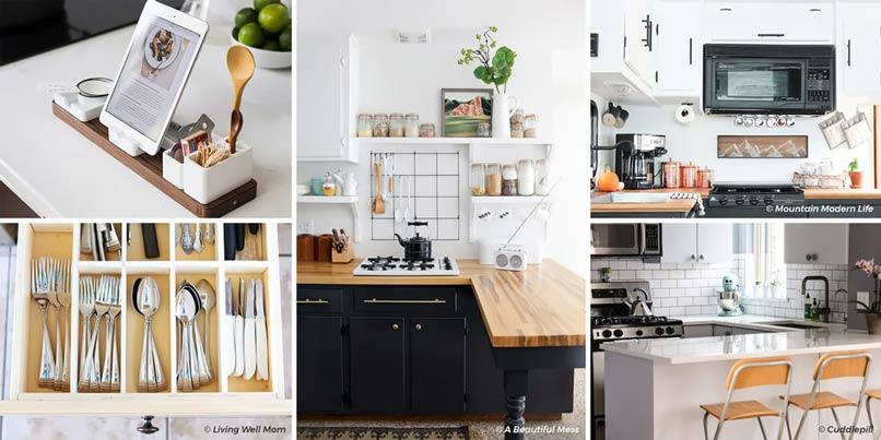 sắp xếp nhà bếp nhỏ