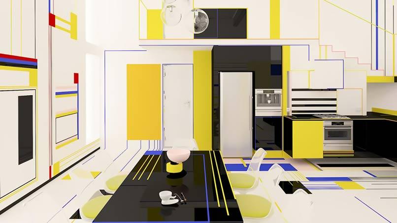 nội thất Phong sách Neo-plasticism