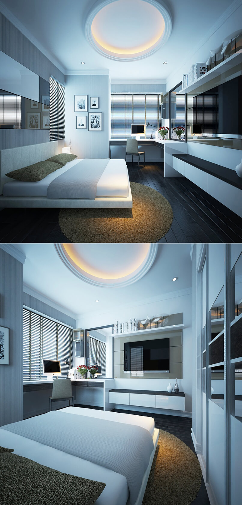 ý Tưởng Thiết Kế Phòng Ngủ Hiện đại độc đáo (1)
