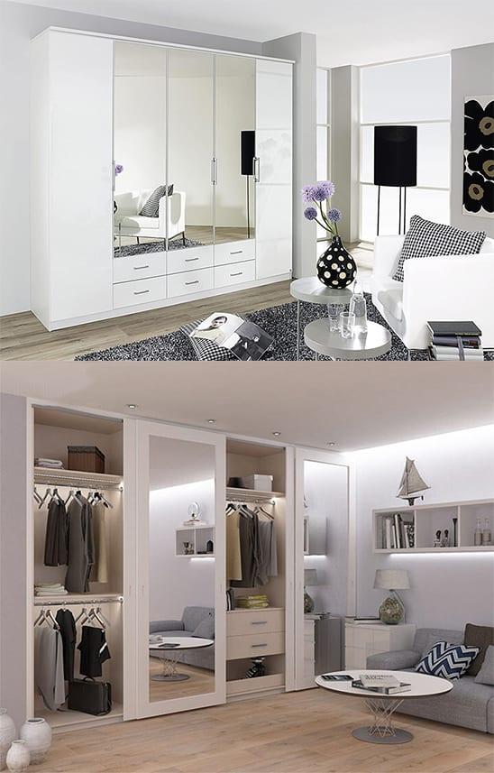 Cách đặt tủ có gương trong phòng ngủ
