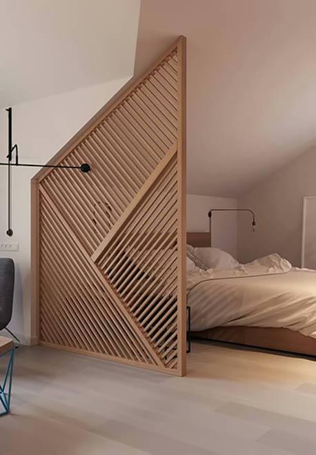 Vật liệu làm vách ngăn phòng ngủ