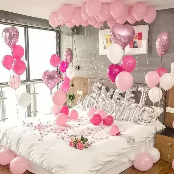 Trang trí phòng cưới bằng bóng bay đẹp, cực dễ làm