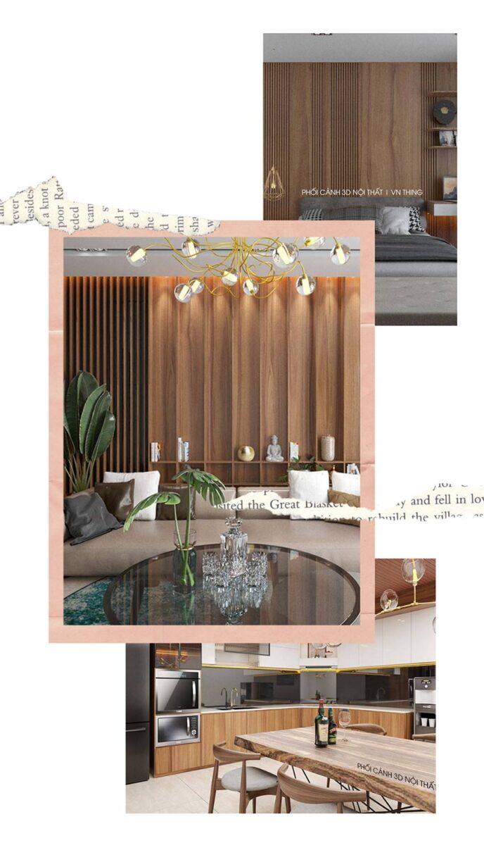 dự án thiết kế nội thất anh Huy