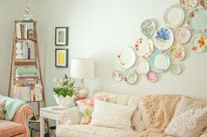 trang trí tường bằng đĩa ăn (1)