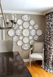 trang trí tường bằng đĩa ăn (15)