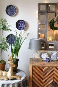 trang trí tường bằng đĩa ăn (16)
