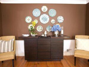 trang trí tường bằng đĩa ăn (19)