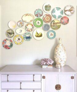 trang trí tường bằng đĩa ăn (2)
