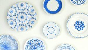 trang trí tường bằng đĩa ăn (24)