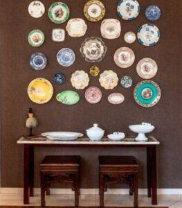 trang trí tường bằng đĩa ăn (3)