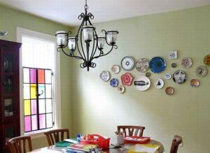 trang trí tường bằng đĩa ăn (4)