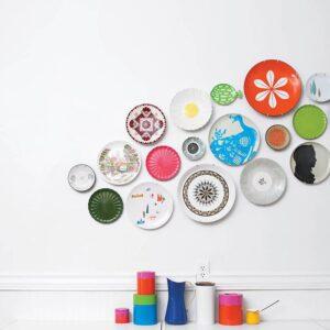 trang trí tường bằng đĩa ăn (9)