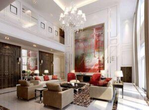 45 ý tưởng phòng khách tân cổ điển (7)