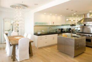 kết hợp giữa phòng khách và phòng bếp (10)