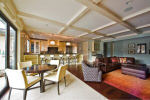 thiết kế phòng bếp và phòng khách kết hợp (1)