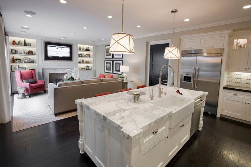 thiết kế phòng bếp và phòng khách kết hợp (10)