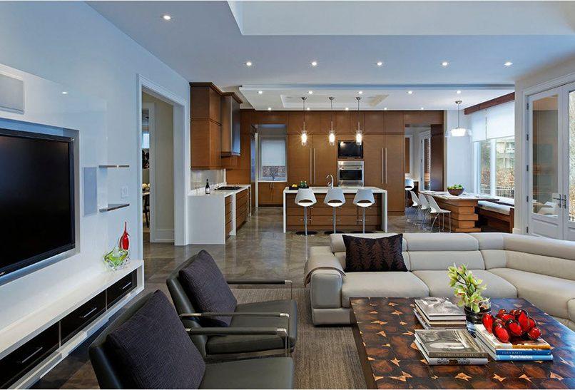 thiết kế phòng bếp và phòng khách kết hợp (2)