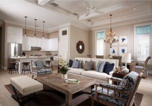 thiết kế phòng bếp và phòng khách kết hợp (3)
