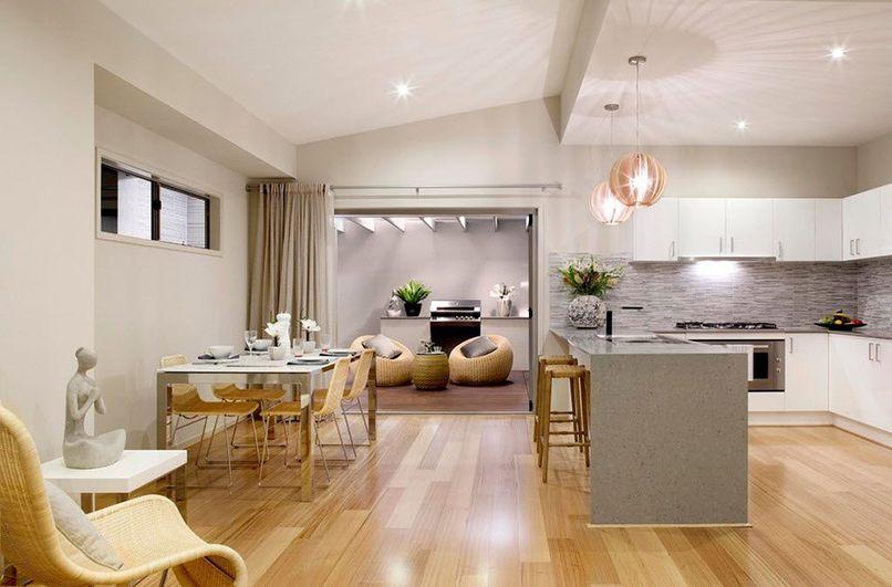 thiết kế phòng bếp và phòng khách kết hợp (5)