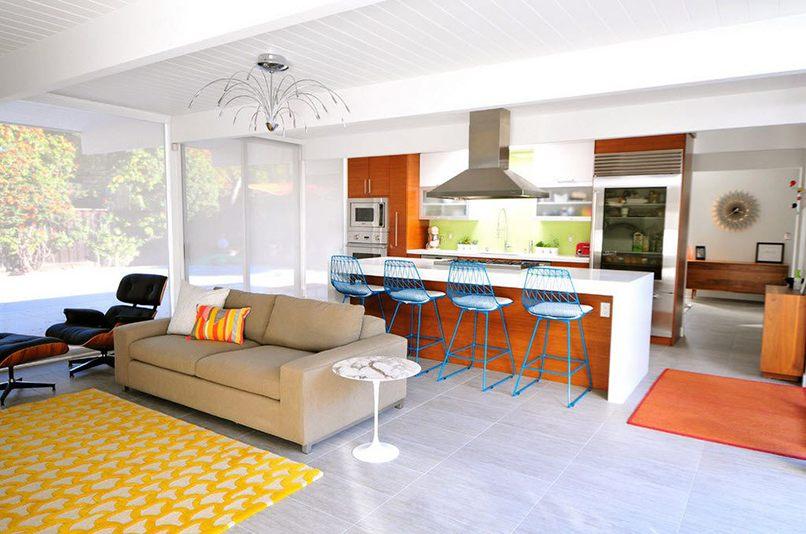 thiết kế phòng bếp và phòng khách kết hợp (6)