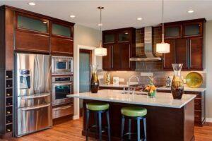 thiết kế phòng bếp và phòng khách kết hợp (9)