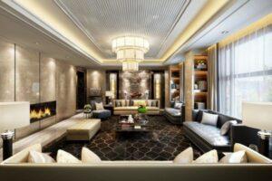 những phòng khách tân cổ điển đẹp nhất (1)