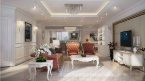 những phòng khách tân cổ điển đẹp nhất (5)