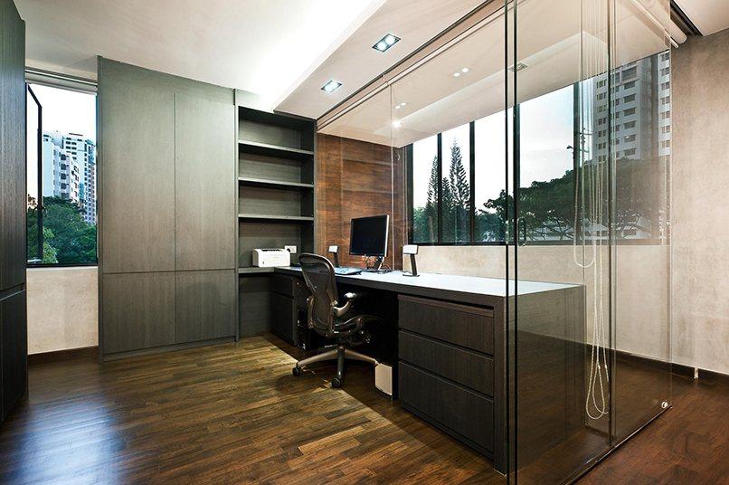 thiết kế nội thất màu đen (4)