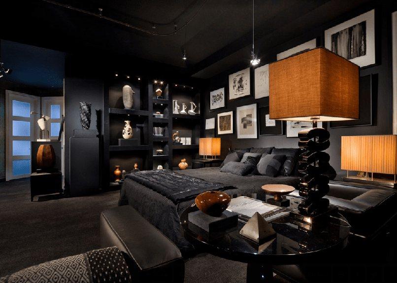 thiết kế nội thất màu đen (7)