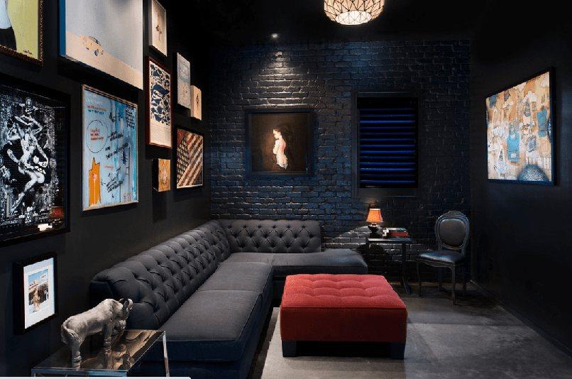thiết kế nội thất màu đen (8)