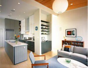 thiết kế phòng bếp và khách (1)