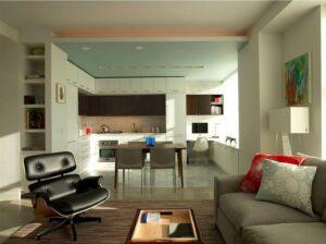 thiết kế phòng bếp và khách (2)