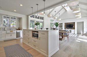 thiết kế phòng bếp và phòng khách đẹp (1)