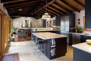 thiết kế phòng bếp và phòng khách đẹp (2)