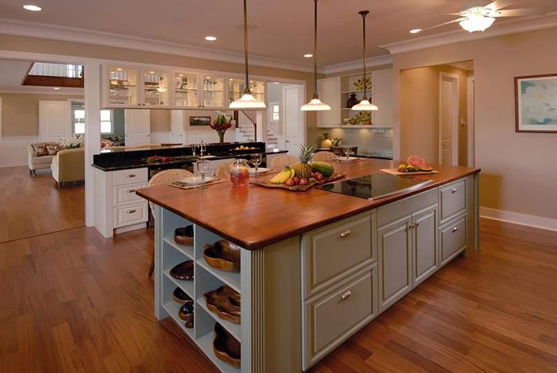 thiết kế phòng bếp và phòng khách đẹp (6)