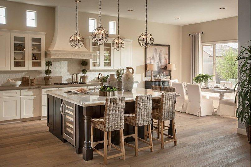 thiết kế phòng khách kết hợp với nhà bếp (1)