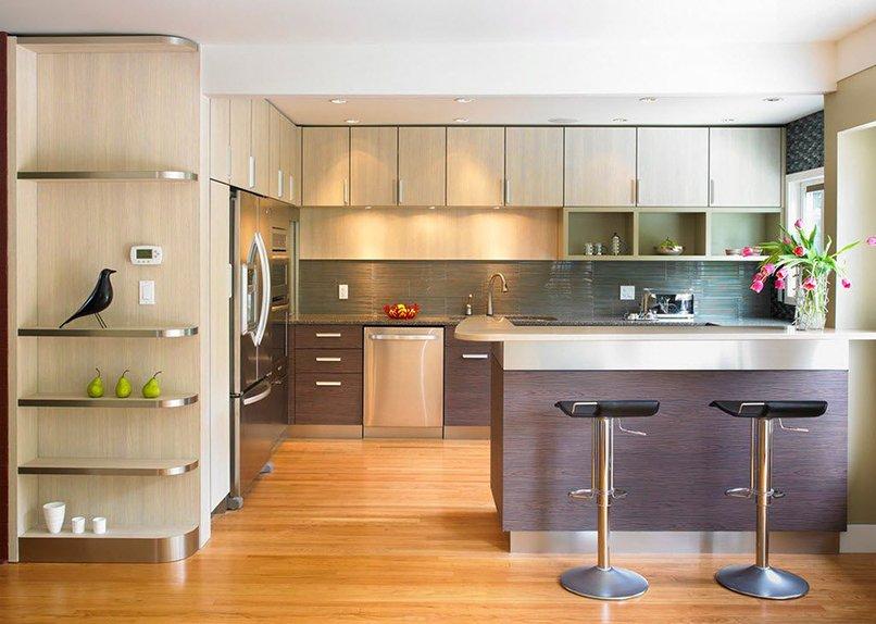 thiết kế phòng khách kết hợp với nhà bếp (2)