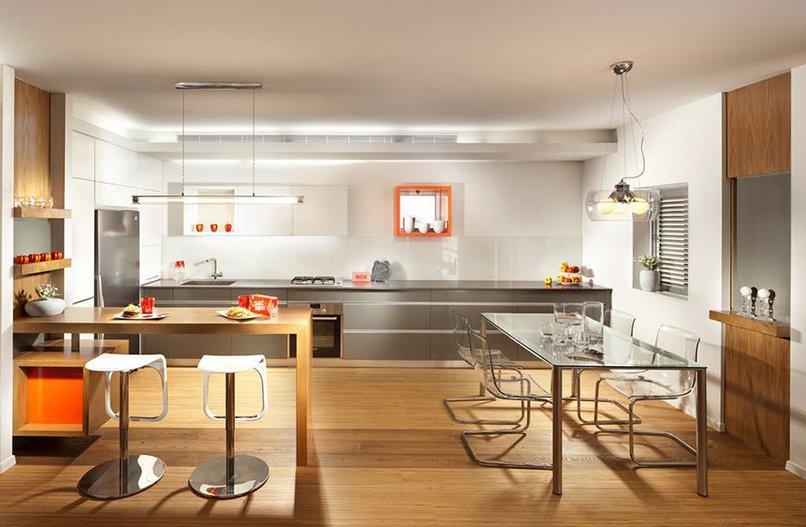 thiết kế phòng khách kết hợp với nhà bếp (5)