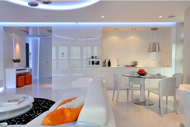 thiết kế phòng khách kết hợp với nhà bếp (7)