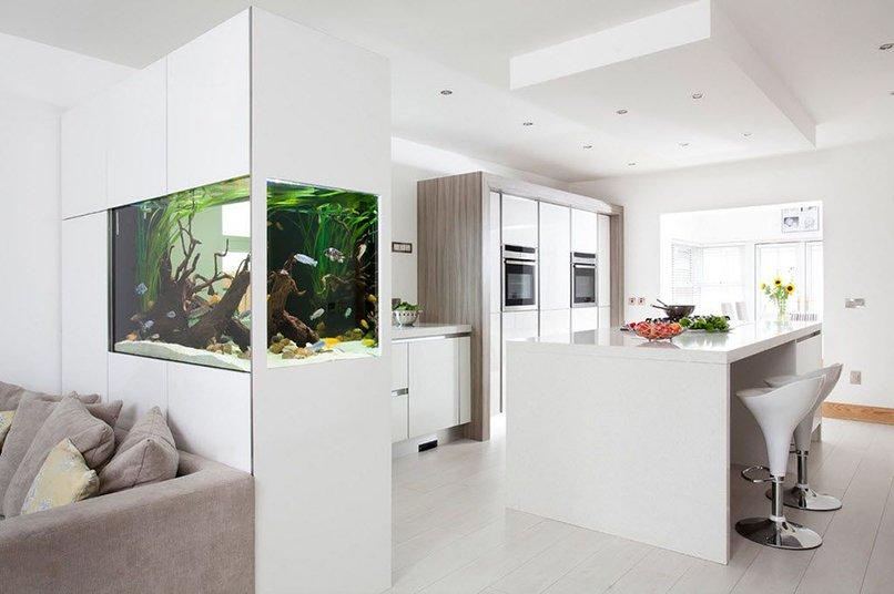 thiết kế phòng khách kết hợp với nhà bếp (8)