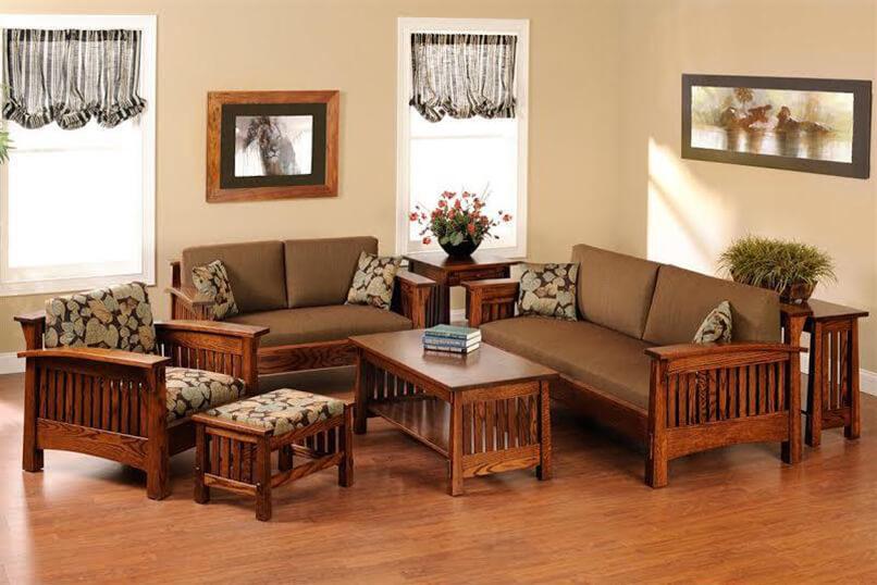 cách bố trí bàn ghế trong phòng khách (9)
