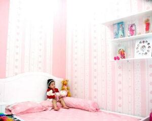 giấy dán tường phòng ngủ cho bé gái (1)