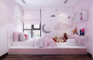 giấy dán tường phòng ngủ cho bé gái (17)